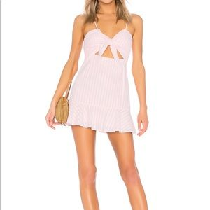 "Lovers and Friends ""lemon lime"" pink mini dress"